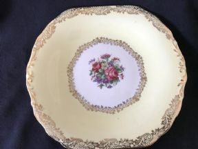 Lovely DAKINS lemon / floral serving plate